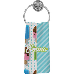 Popsicles and Polka Dots Hand Towel - Full Print (Personalized)