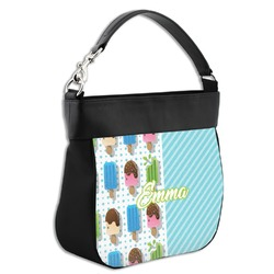 Popsicles and Polka Dots Hobo Purse w/ Genuine Leather Trim (Personalized)