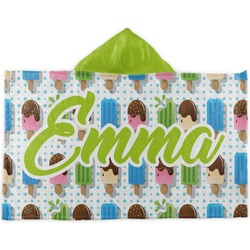 Popsicles and Polka Dots Kids Hooded Towel (Personalized)