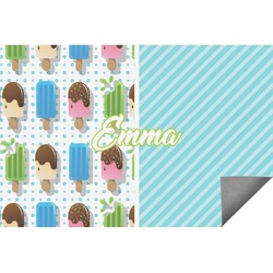 Popsicles and Polka Dots Indoor / Outdoor Rug (Personalized)