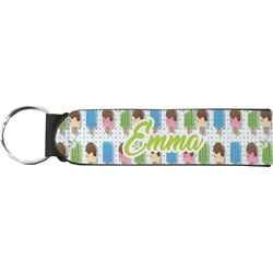 Popsicles and Polka Dots Neoprene Keychain Fob (Personalized)