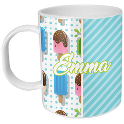 Popsicles and Polka Dots Plastic Kids Mug (Personalized)