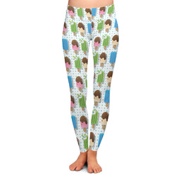 Popsicles and Polka Dots Ladies Leggings (Personalized)