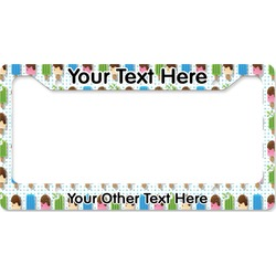 Popsicles and Polka Dots License Plate Frame (Personalized)