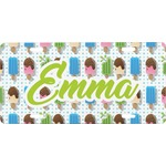 Popsicles and Polka Dots Front License Plate (Personalized)