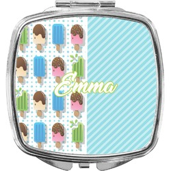 Popsicles and Polka Dots Compact Makeup Mirror (Personalized)