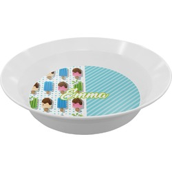 Popsicles and Polka Dots Melamine Bowl (Personalized)