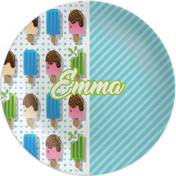 Popsicles and Polka Dots Melamine Plate (Personalized)