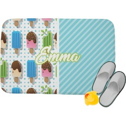 Popsicles and Polka Dots Memory Foam Bath Mat (Personalized)