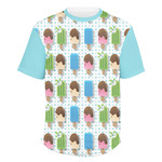 Popsicles and Polka Dots Men's Crew T-Shirt (Personalized)
