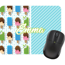 Popsicles and Polka Dots Rectangular Mouse Pad (Personalized)