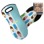 Popsicles and Polka Dots Neoprene Oven Mitt (Personalized)