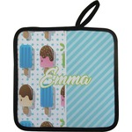 Popsicles and Polka Dots Pot Holder w/ Name or Text