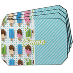 Popsicles and Polka Dots Dining Table Mat - Octagon w/ Name or Text