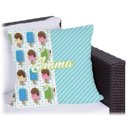 """Popsicles and Polka Dots Outdoor Pillow - 18"""" (Personalized)"""