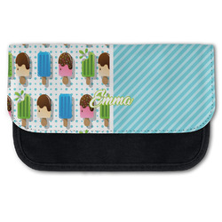Popsicles and Polka Dots Canvas Pencil Case w/ Name or Text