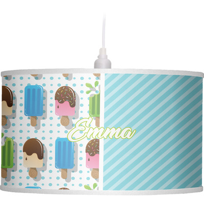 Popsicles and Polka Dots Drum Pendant Lamp (Personalized)