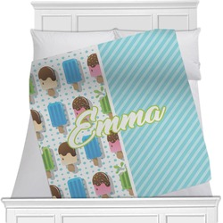 Popsicles and Polka Dots Blanket (Personalized)