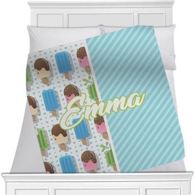Popsicles and Polka Dots Minky Blanket (Personalized)