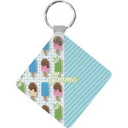 Popsicles and Polka Dots Diamond Key Chain (Personalized)