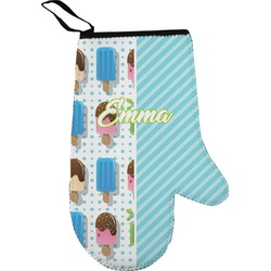 Popsicles and Polka Dots Oven Mitt (Personalized)