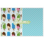 Popsicles and Polka Dots Laminated Placemat w/ Name or Text