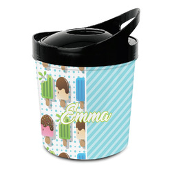 Popsicles and Polka Dots Plastic Ice Bucket (Personalized)