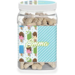 Popsicles and Polka Dots Pet Treat Jar (Personalized)