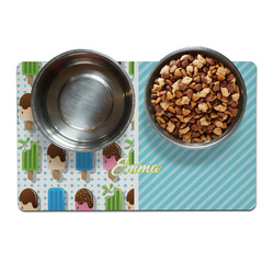 Popsicles and Polka Dots Pet Bowl Mat (Personalized)