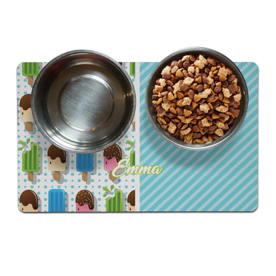 Popsicles and Polka Dots Dog Food Mat (Personalized)