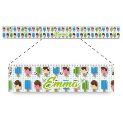"""Popsicles and Polka Dots Plastic Ruler - 12"""" (Personalized)"""