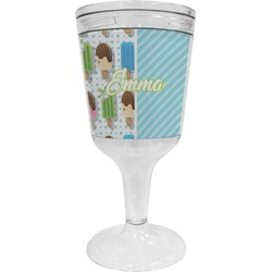 Popsicles and Polka Dots Wine Tumbler - 11 oz Plastic (Personalized)