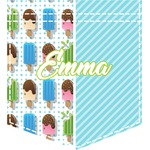 Popsicles and Polka Dots Iron On Faux Pocket (Personalized)