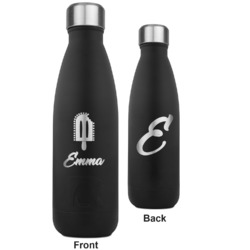 Popsicles and Polka Dots RTIC Bottle - Black - Engraved Front & Back (Personalized)