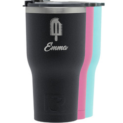 Popsicles and Polka Dots RTIC Tumbler - Black (Personalized)