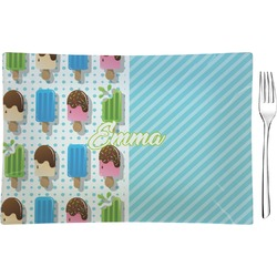 Popsicles and Polka Dots Glass Rectangular Appetizer / Dessert Plate - Single or Set (Personalized)