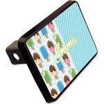 """Popsicles and Polka Dots Rectangular Trailer Hitch Cover - 2"""" (Personalized)"""