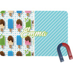 Popsicles and Polka Dots Rectangular Fridge Magnet (Personalized)