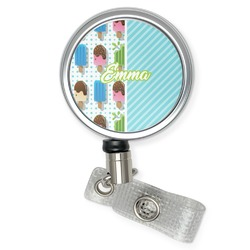 Popsicles and Polka Dots Retractable Badge Reel (Personalized)