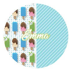 Popsicles and Polka Dots Round Decal (Personalized)