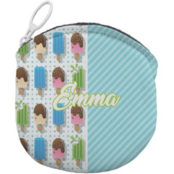 Popsicles and Polka Dots Round Coin Purse (Personalized)