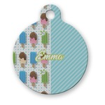 Popsicles and Polka Dots Round Pet Tag (Personalized)