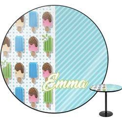 Popsicles and Polka Dots Round Table (Personalized)