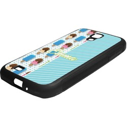 Popsicles and Polka Dots Rubber Samsung Galaxy 4 Phone Case (Personalized)