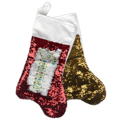 Popsicles and Polka Dots Reversible Sequin Stocking (Personalized)