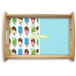 Popsicles and Polka Dots Natural Wooden Tray (Personalized)