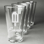 Popsicles and Polka Dots Beer Glasses (Set of 4) (Personalized)