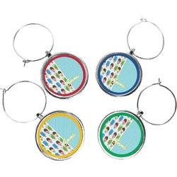 Popsicles and Polka Dots Wine Charms (Set of 4) (Personalized)
