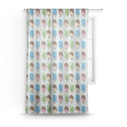 Popsicles and Polka Dots Sheer Curtains (Personalized)