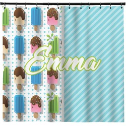 Popsicles and Polka Dots Shower Curtain (Personalized)